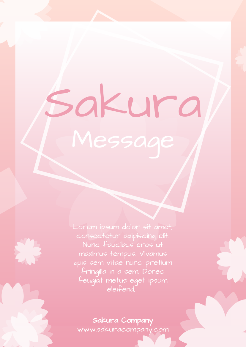 Flyer template: Graphic Sakura Flyer (Created by InfoART's Flyer maker)