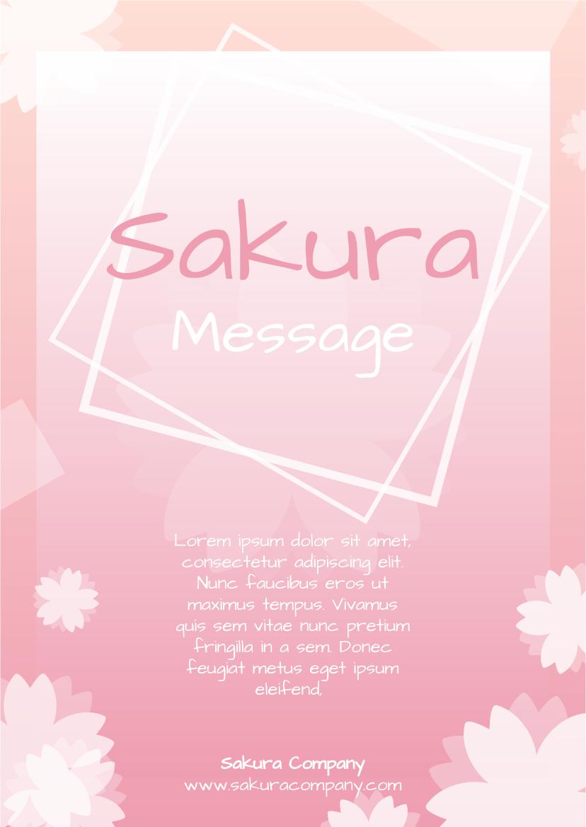 Flyer template: Sakura Flyer (Created by InfoART's Flyer maker)