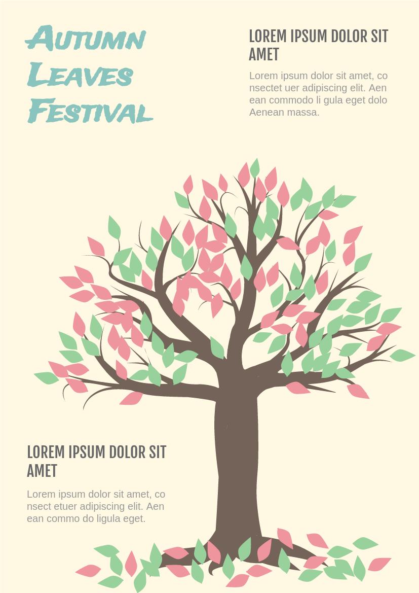 Flyer template: Autumn Leaves Festival Flyer (Created by InfoART's Flyer maker)