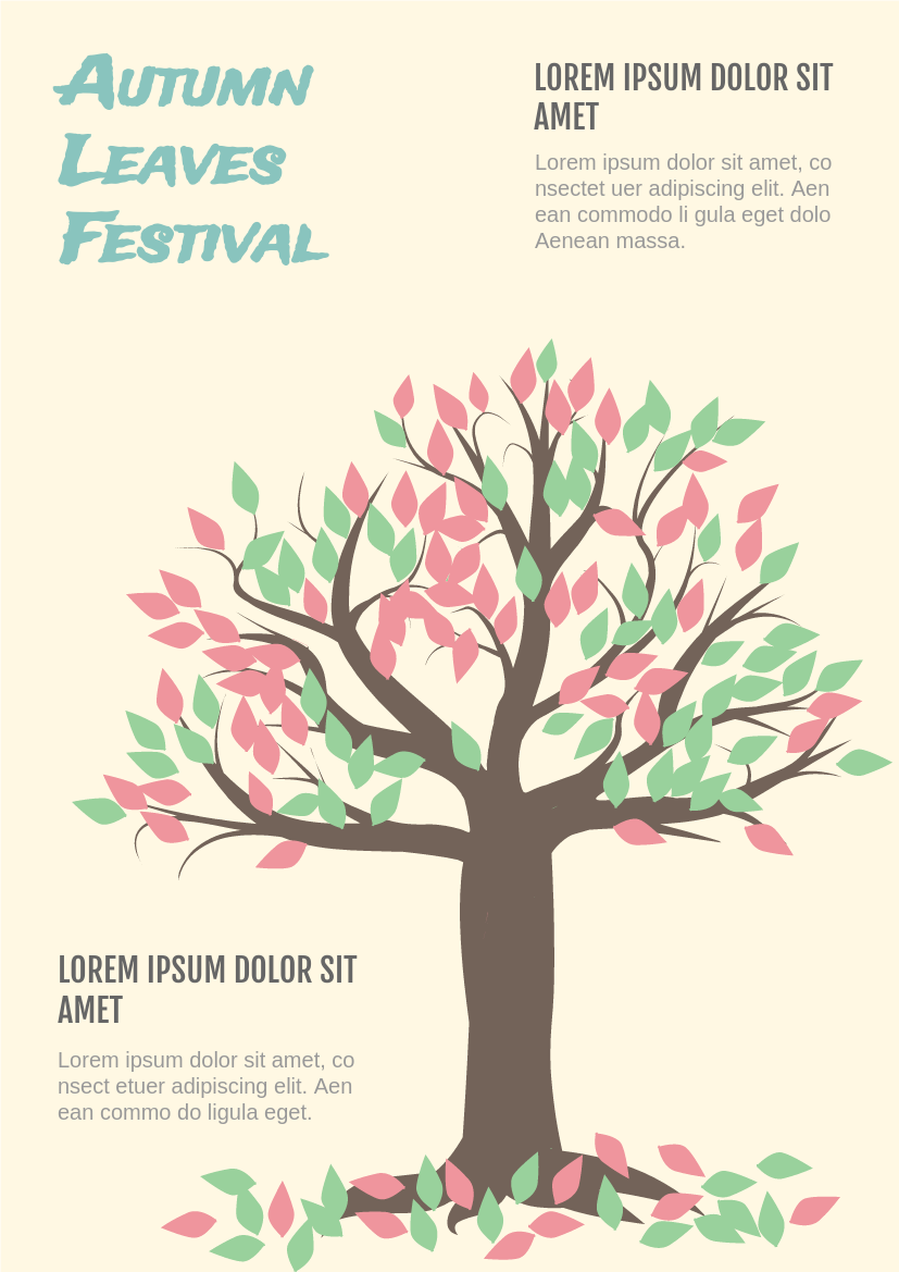 Flyer template: Autumn Leaves Festival (Created by InfoART's Flyer maker)