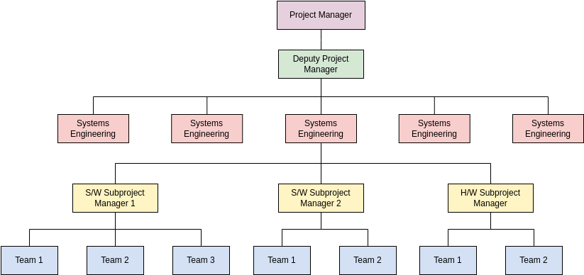 Project Team (Organization Chart Example)