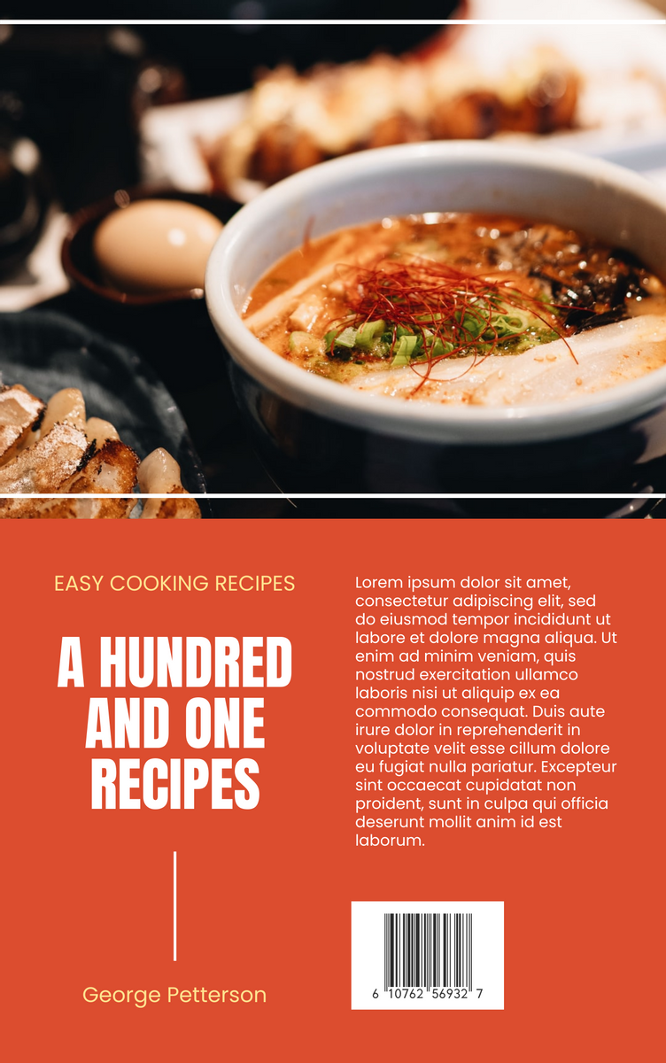 Book Cover template: A Hundred And One Recipes Book Cover (Created by InfoART's Book Cover maker)