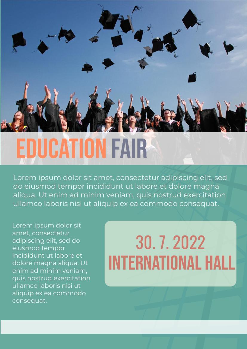 Flyer template: Education Fair Flyer (Created by InfoART's Flyer maker)