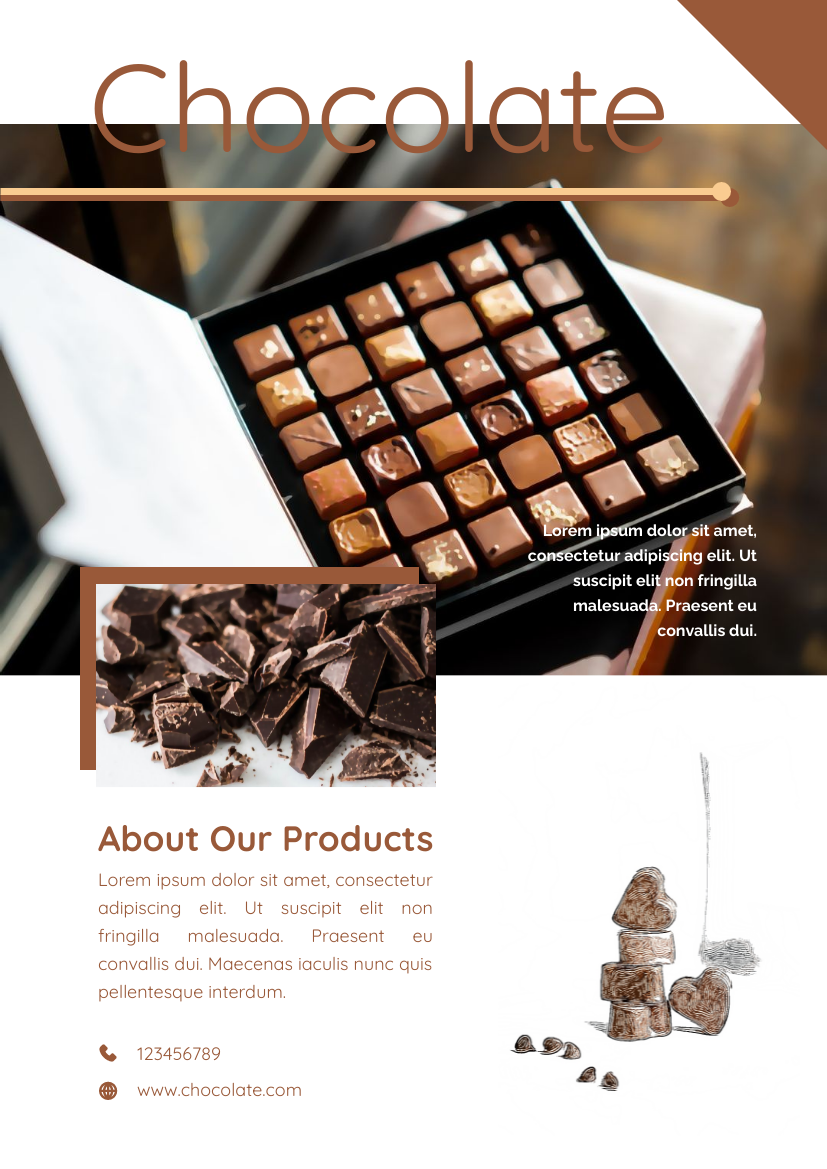 Flyer template: Chocolate Informative Flyer (Created by InfoART's Flyer maker)