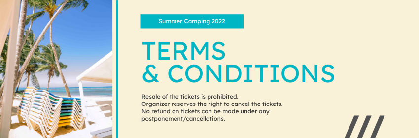 Ticket template: Summer Day Camp Ticket (Created by InfoART's Ticket maker)