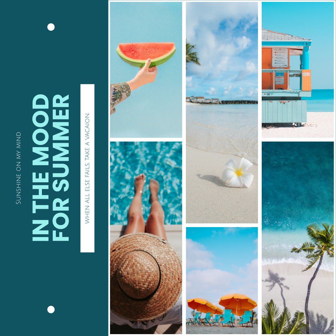 Photo Collage template: Mood Of Summer Photo Collage (Created by Collage's Photo Collage maker)