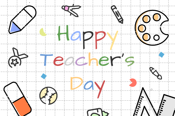Greeting Card template: Happy Teachers' Day Illustrated Greeting Card Greeting Card (Created by InfoART's Greeting Card maker)