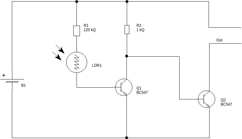 Circuit Diagram template: Dark Sensor (Created by Diagrams's Circuit Diagram maker)