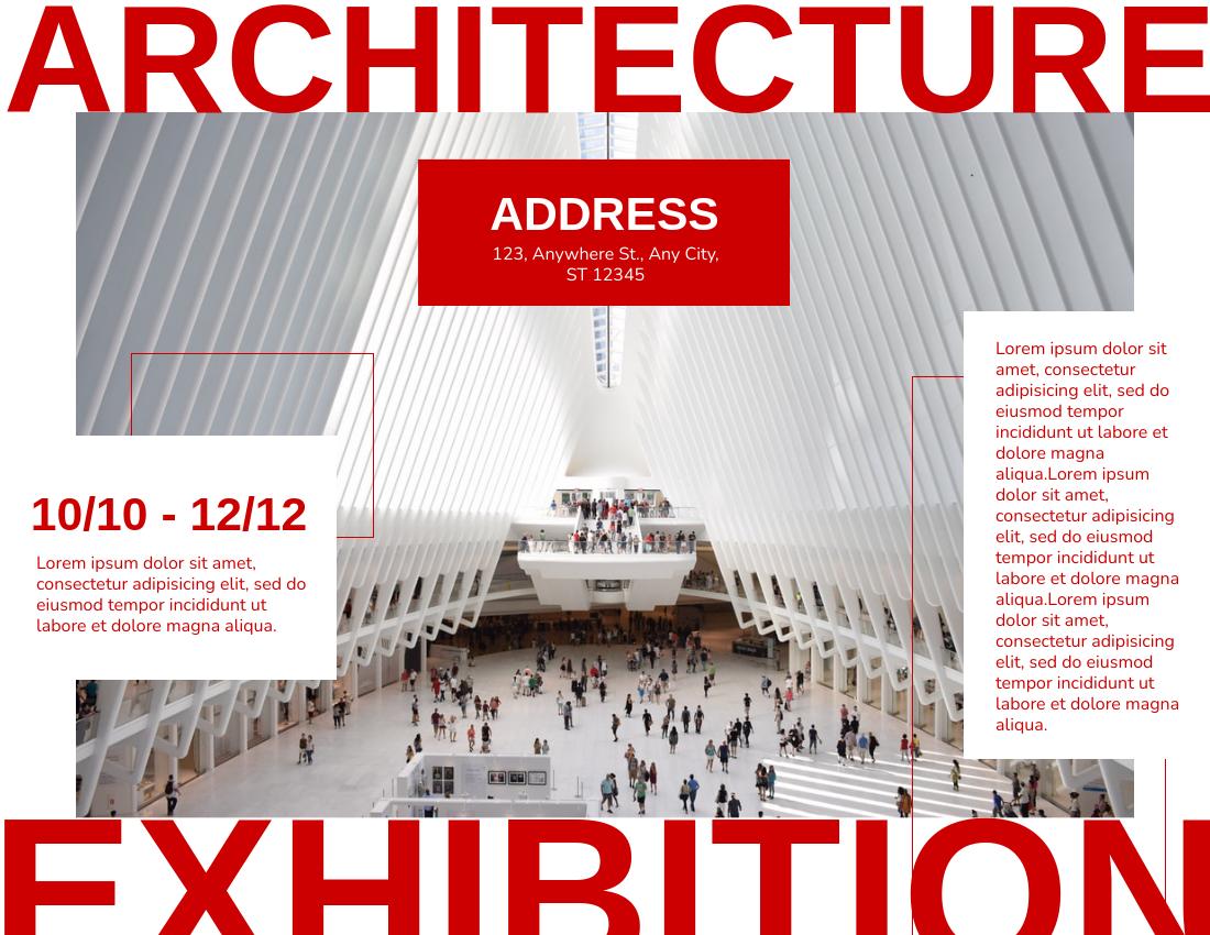 Brochure template: Architecture Exhibition Brochure (Created by InfoART's Brochure maker)
