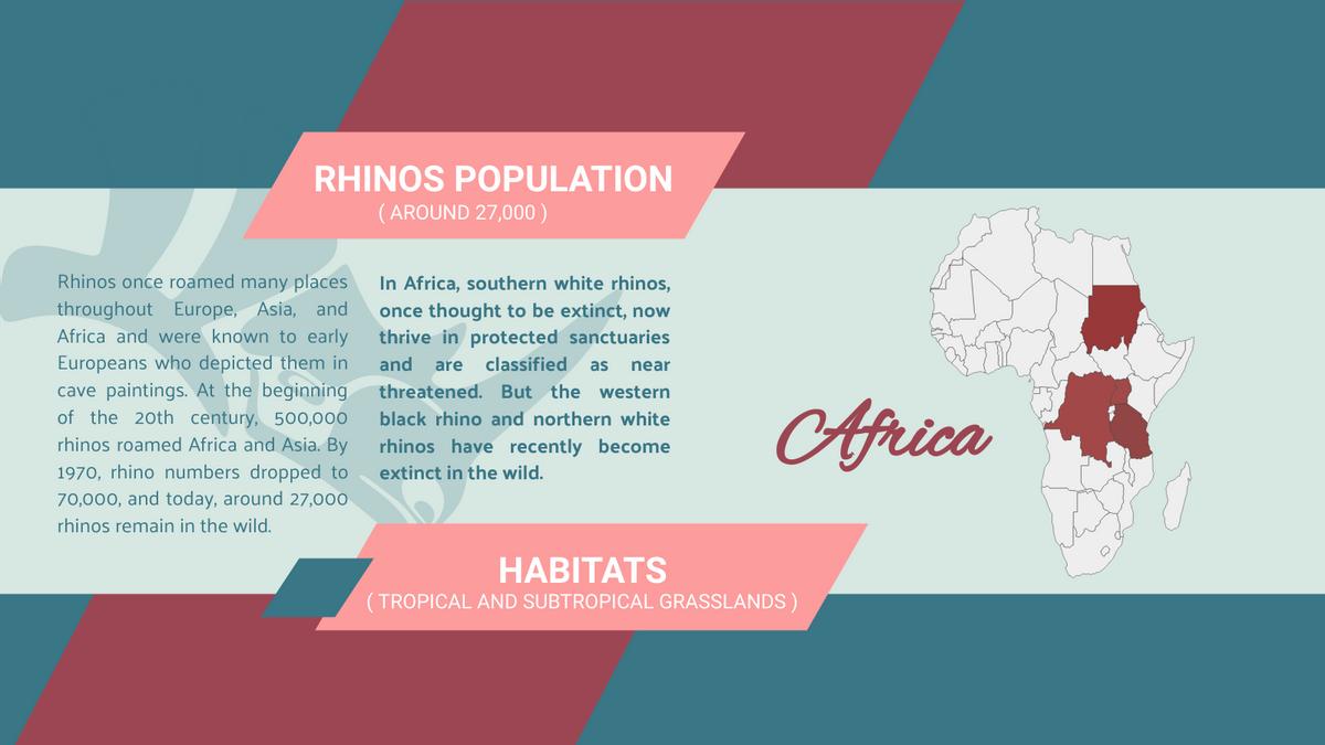Geo Map template: Rhino Population Geo Map (Created by Chart's Geo Map maker)