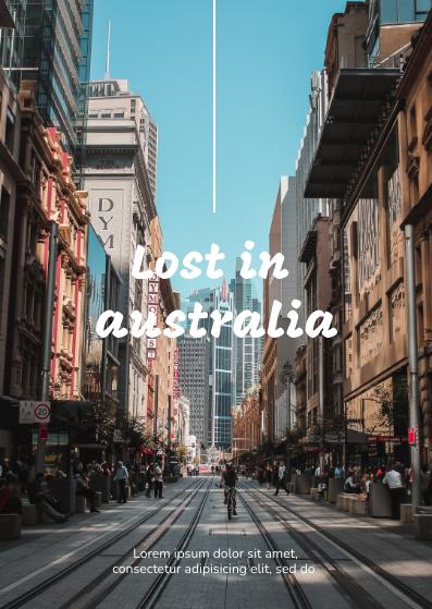Postcard template: Australia Postcard (Created by InfoART's Postcard maker)