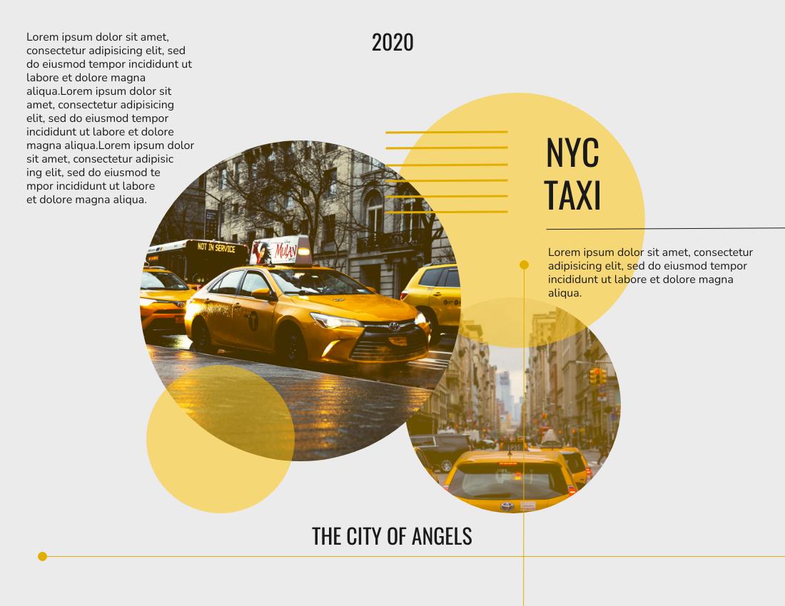 Brochure template: Taxi Brochure (Created by InfoART's Brochure marker)