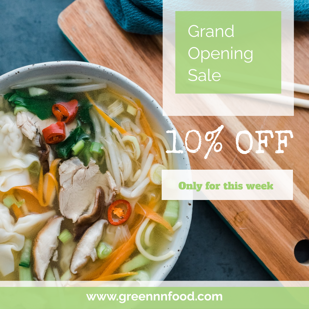 Instagram Post template: Restaurant Grand Opening Sale Instagram Post (Created by InfoART's Instagram Post maker)