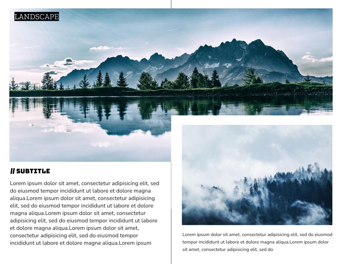 Brochure template: Landscape Brochure (Created by InfoART's Brochure marker)