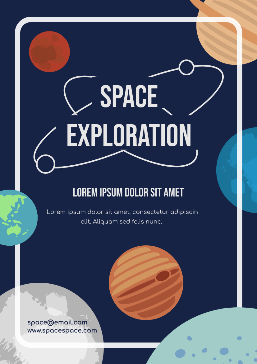 Flyer template: Space Exploration Flyer (Created by InfoART's Flyer maker)