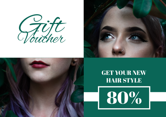 Gift Card template: Salon Discount Gift Card (Created by InfoART's Gift Card maker)