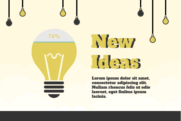 Business template: New Ideas (Created by InfoChart's Business maker)