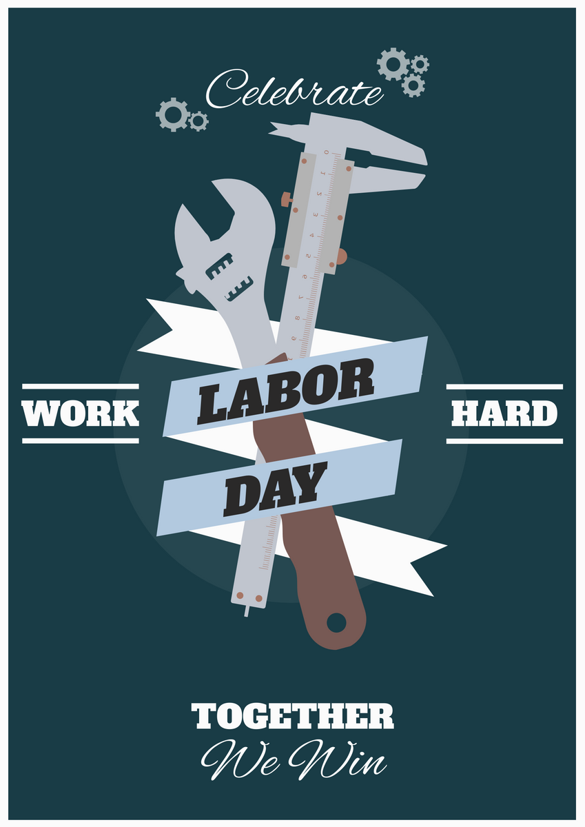 Poster template: Blue Labor Day Poster (Created by InfoART's Poster maker)