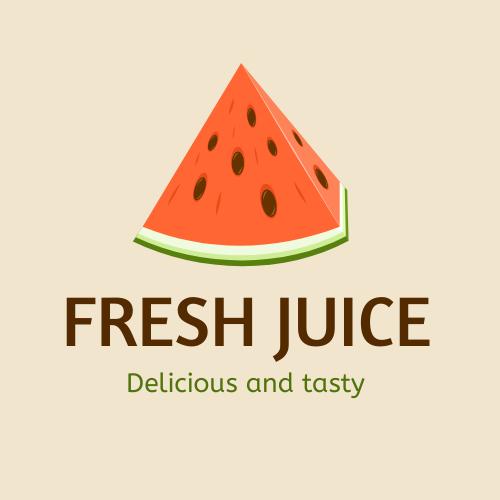 Logo template: Fresh Juice Logo (Created by InfoART's Logo maker)