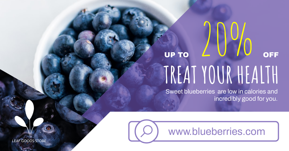Facebook Ad template: Organic Blueberry Sales Facebook Ad (Created by InfoART's Facebook Ad maker)