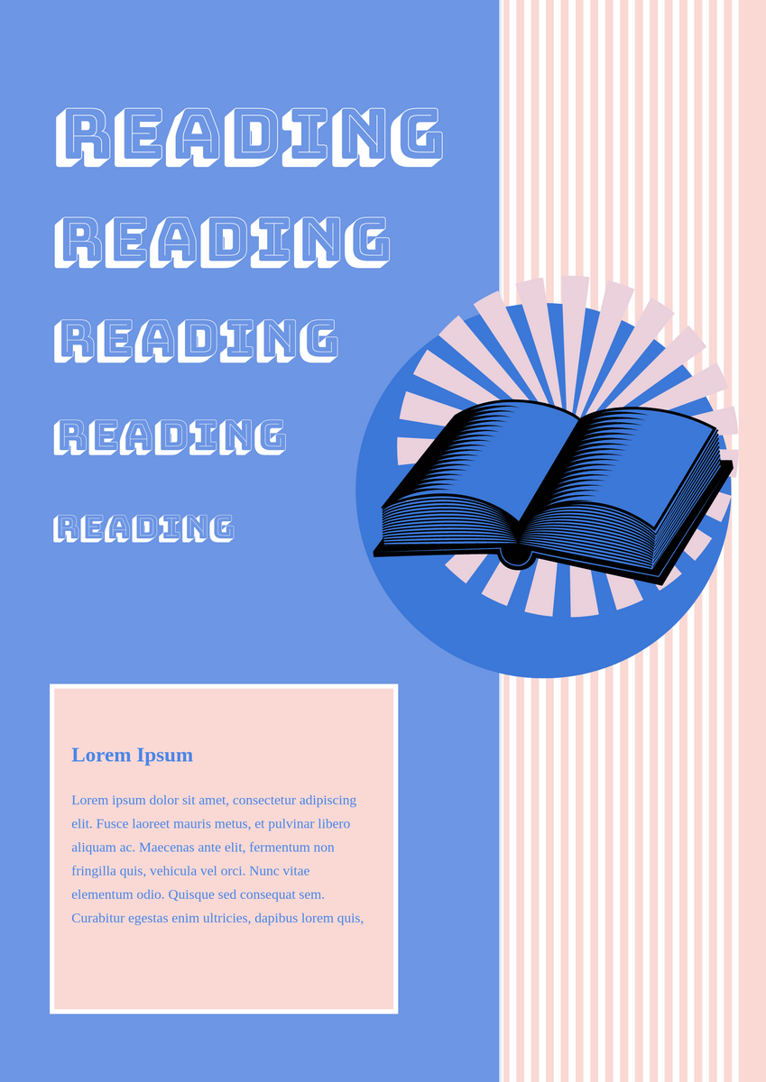Poster template: Reading poster (Created by InfoART's Poster maker)