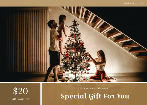 Gift Card template: Family Christmas Photo Special Gift Card (Created by InfoART's Gift Card maker)