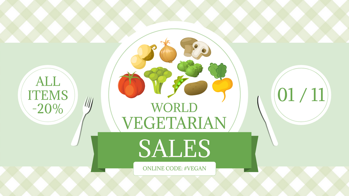 Twitter Post template: Vegetarian Product Discount Twitter Post (Created by InfoART's Twitter Post maker)