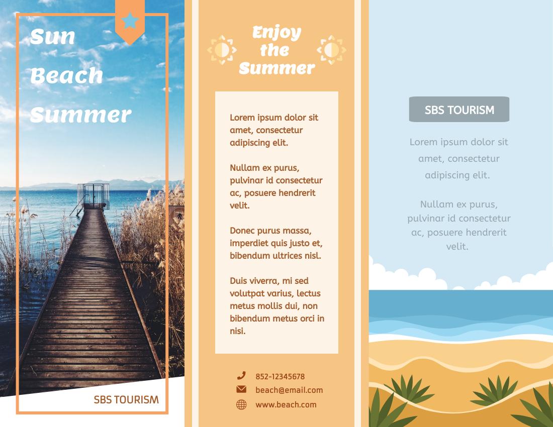 Brochure template: Summer Tourism Brochure (Created by InfoART's Brochure marker)