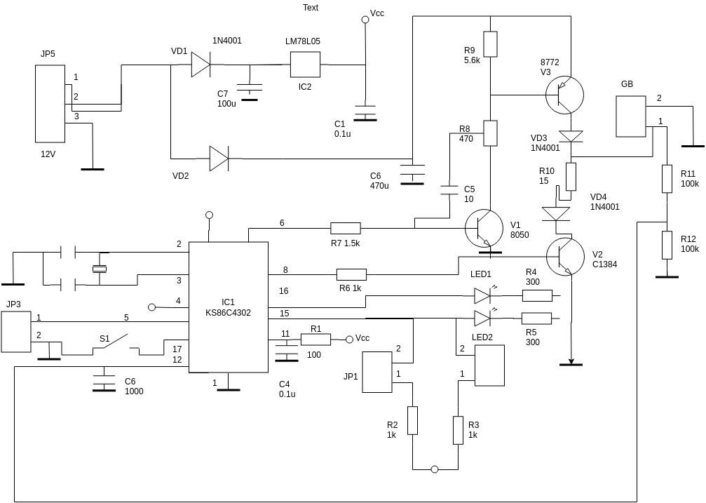 Circuit Diagram template: Mobile Phone Battery Charging (Created by Diagrams's Circuit Diagram maker)
