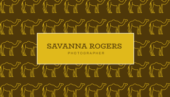 Business Card template: Gold Egypt Camels Patterns Illustration Business Card (Created by InfoART's Business Card maker)