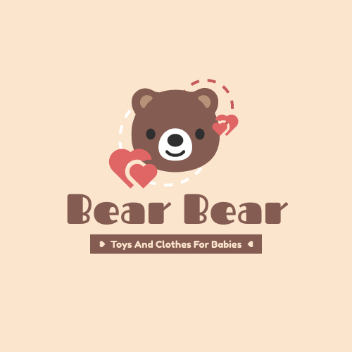 Logo template: Bear Logo Generated For Store Selling Baby Toys And Clothes (Created by InfoART's Logo maker)