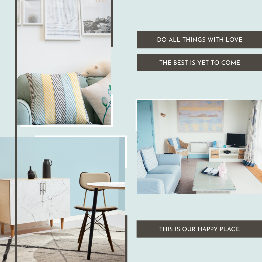 Photo Collage template: Our Happy Place Interior Photo Collage (Created by Collage's Photo Collage maker)