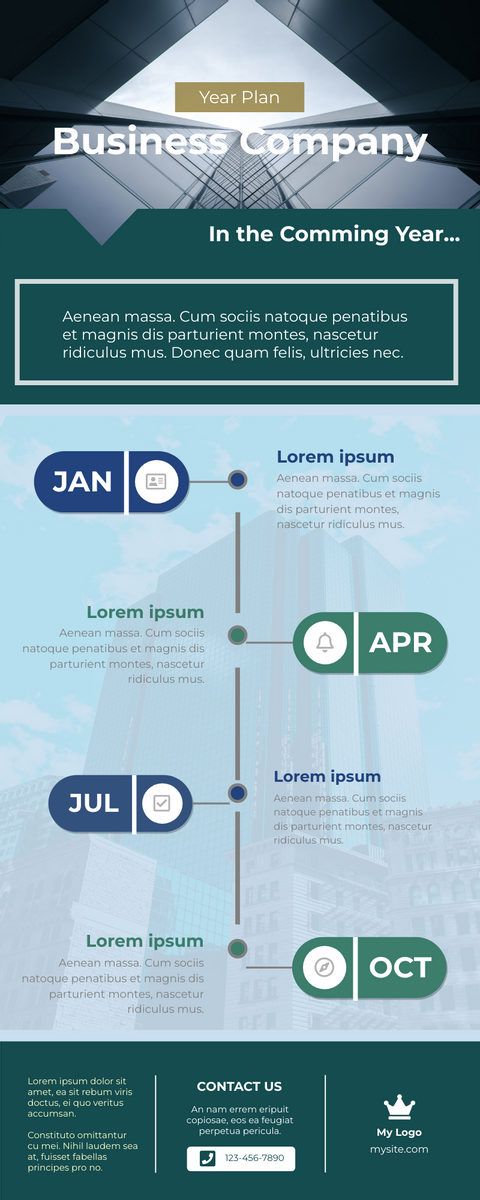 Infographic template: Business Year Plan Infographic (Created by InfoART's Infographic maker)