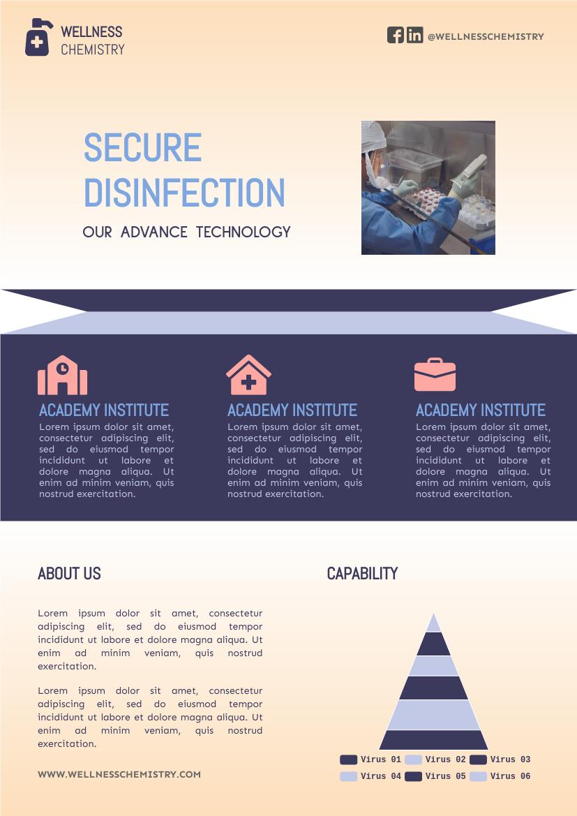 Flyer template: Disinfection Flyer (Created by InfoART's Flyer marker)