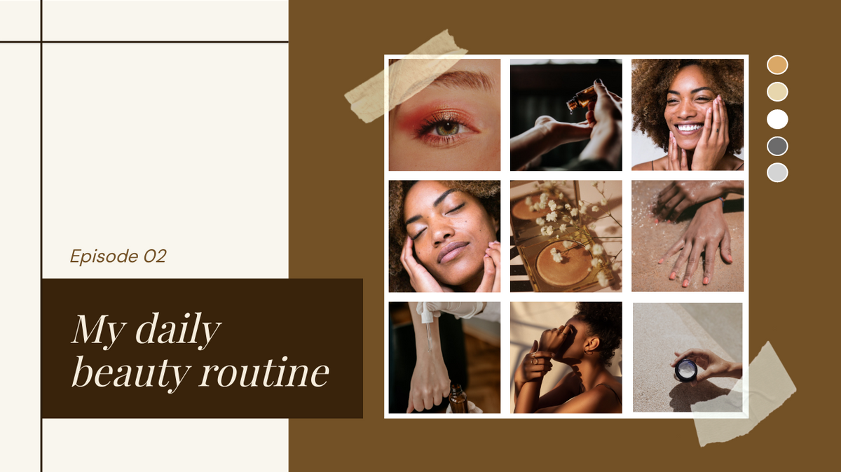 YouTube Thumbnail template: My Daily Beauty Routine YouTube Thumbnail (Created by Collage's YouTube Thumbnail maker)