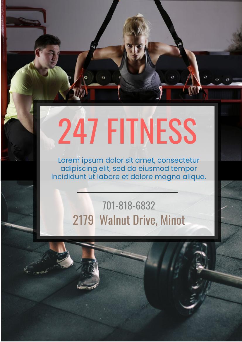Flyer template: Fitness Centre Promotion Flyer (Created by InfoART's Flyer maker)