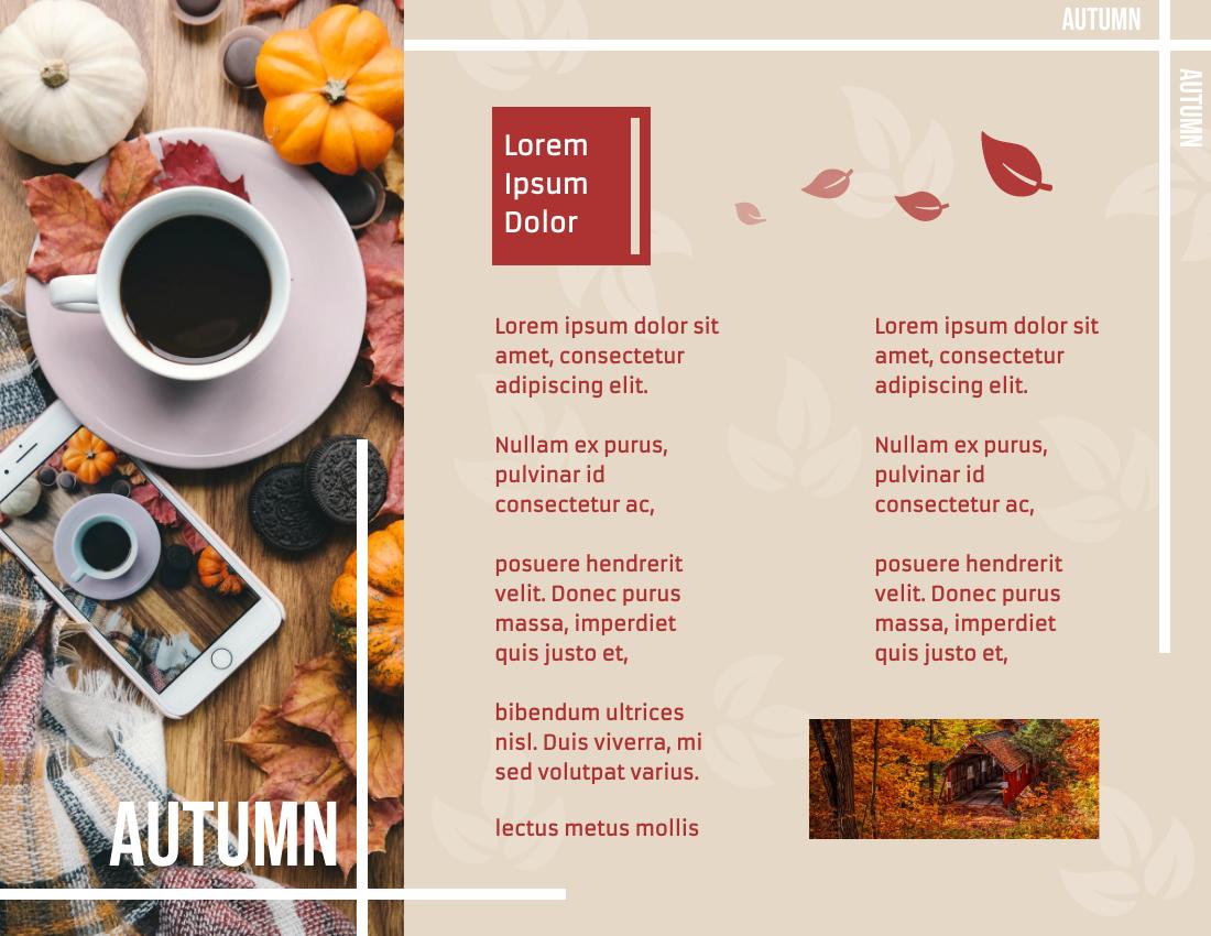 Brochure template: Autumn Travelling Brochure (Created by InfoART's Brochure maker)