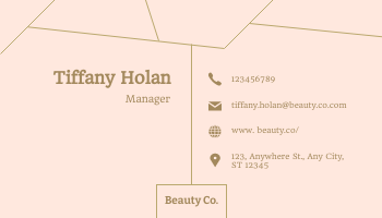 Business Card template: Beauty.co Business Cards (Created by InfoART's Business Card maker)