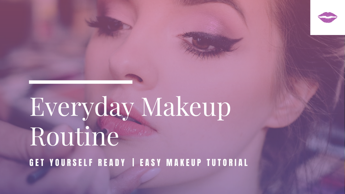 YouTube Thumbnail template: Purple Gradient Color Makeup Tutorial YouTube Thumbnail (Created by InfoART's YouTube Thumbnail maker)