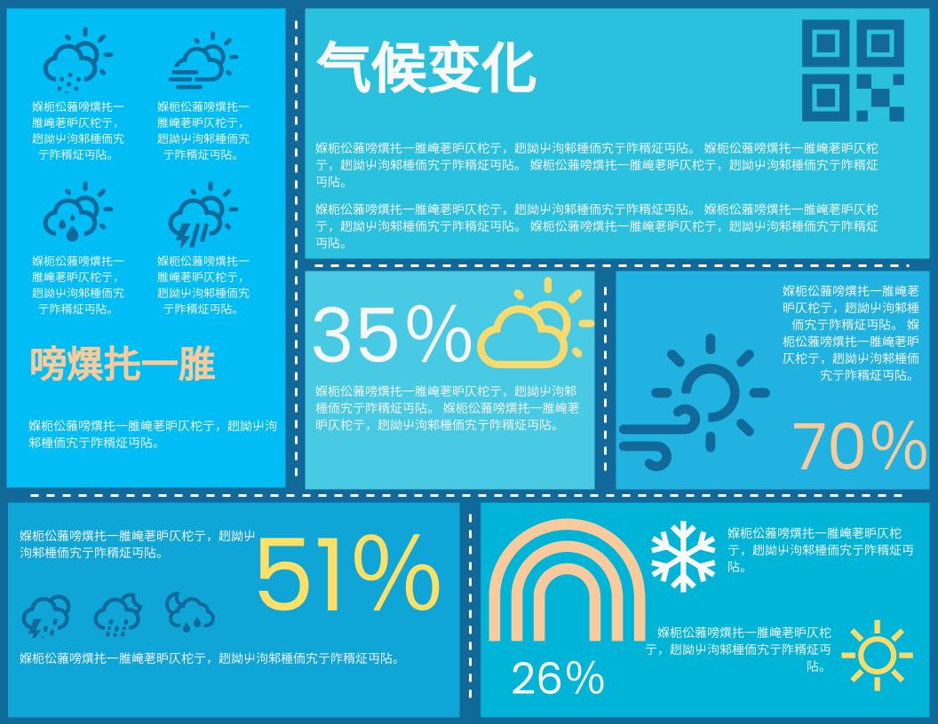 信息图表 template: 气候变化资料图 (Created by InfoART's 信息图表 maker)