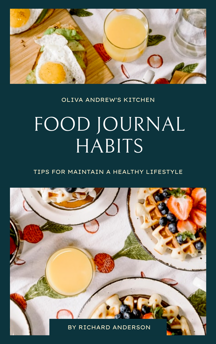 Book Cover template: Food Journal Habits Book Cover (Created by InfoART's Book Cover maker)