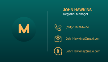 Business Card template: Green John's Business Card (Created by InfoART's Business Card maker)