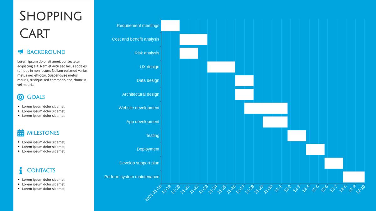 Gantt Chart template: Project Gantt Chart (Created by Chart's Gantt Chart maker)