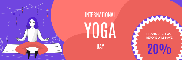 Email Header template: Yoga Day Lesson Discount Email Header (Created by InfoART's Email Header maker)