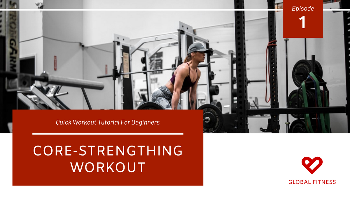 YouTube Thumbnail template: Red Fitness Photo Core Workout YouTube Thumbnail (Created by InfoART's YouTube Thumbnail maker)