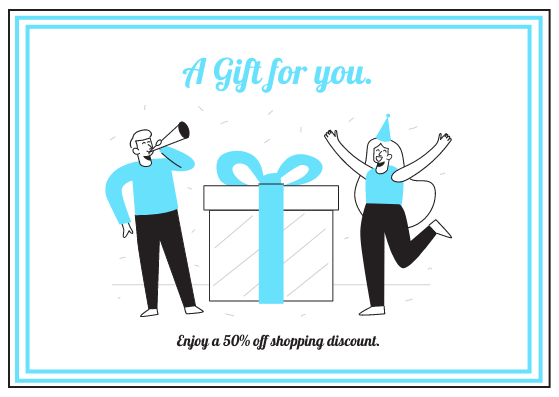 Gift Card template: Shopping Discount Gift Card (Created by InfoART's Gift Card marker)