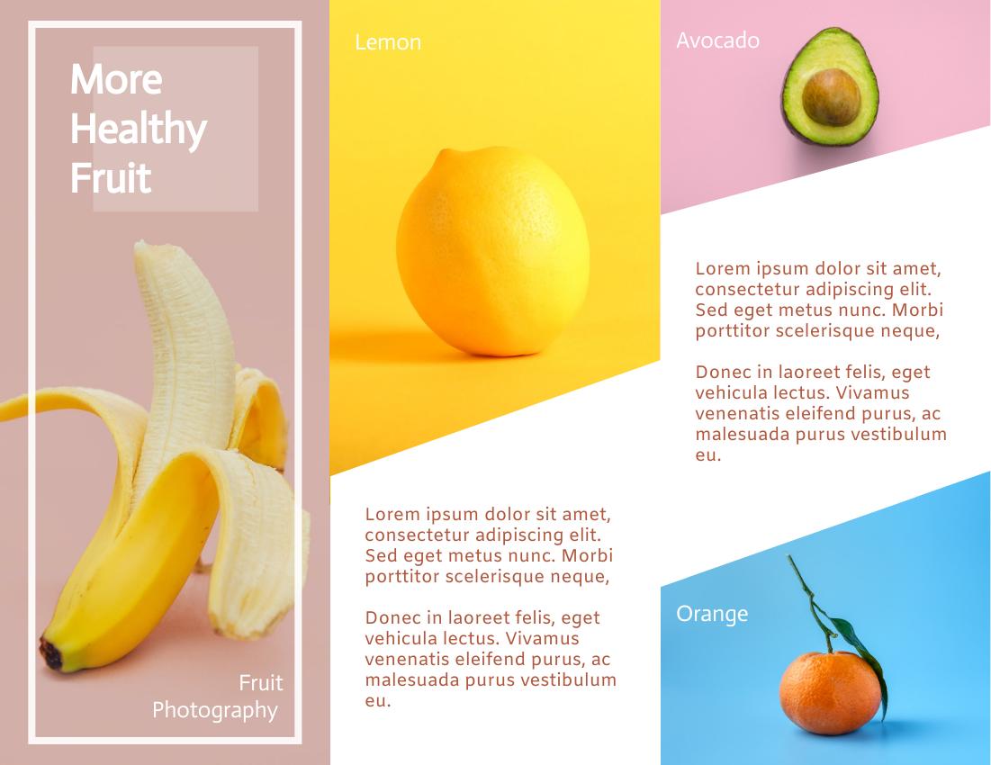 Brochure template: Colourful Brochure 2 (Created by InfoART's Brochure marker)