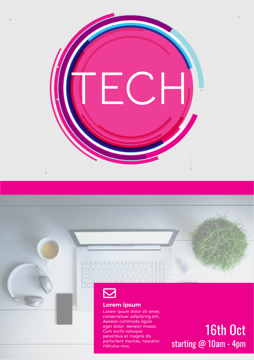 Flyer template: Tech Flyer (Created by InfoART's Flyer maker)