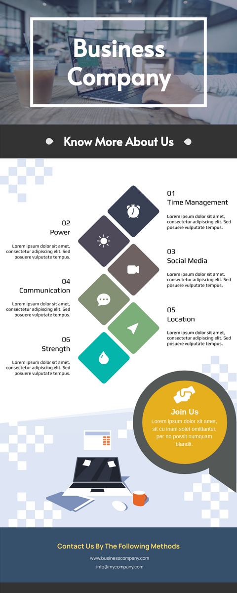 Infographic template: Introduction Of Business Company Infographic (Created by InfoART's Infographic maker)