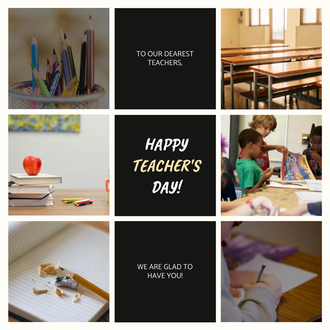 Instagram Post template: School Photos Grids Teacher's Day Instagram Post (Created by InfoART's Instagram Post maker)